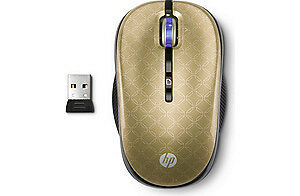 HP-2-4GHz-Wireless-Optical-Mouse-Butter-Gold-LV393AA