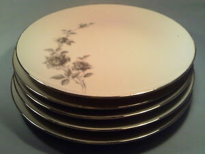 Q15-5-BRISTOL-Fine-China-FLOWER-SONG-Dinner-Plates-MADE-IN-JAPAN-N-7201