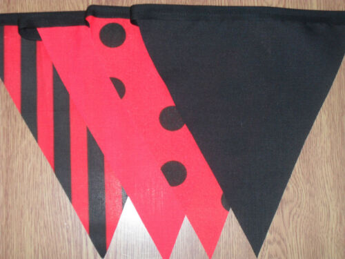 HALLOWEEN FABRIC BUNTING.PARTIES,RED,BLACK.12FT,40FT.