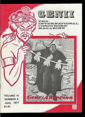 Rare Magic Magazine Genii Gene Anderson 1977 Magician Conjuring Tricks
