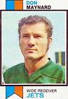 1973 Topps Don Maynard New York Jets #175 Football Card