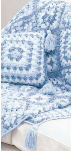 Crochet blanket  & Cushion- Crochet Pattern Granny Squares