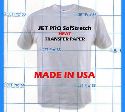 Inkjet Jet Pro Soft Stretch, Transfer Paper,  Sheets Heat Transfer Paper, press