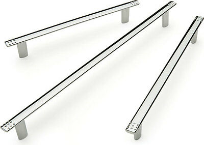 Kitchen 10mm Bar Handles High Polished Chrome Modern Door Handles 128/160/224mm