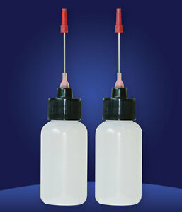Two 1 OZ bottles with needle tip dispenser, pharmaceutical grade quality!!
