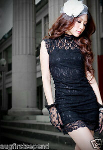New-Womens-Sexy-Classical-Lace-Graceful-Mini-Dress-0902
