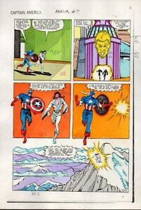 1983-Captain-America-Annual-7-page-25-Marvel-Comics-original-color-guide-artwork