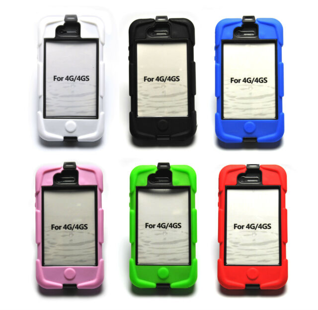 Apple iPhone 4/4S Shock Proof Holder table Case Cover Colours Mobile Survivor