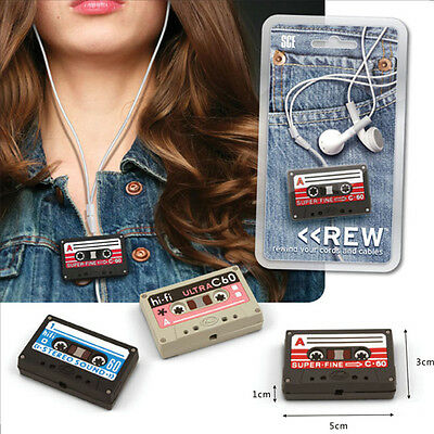 New Cute Tape Cable Cord Winder Wire Holder Wrap Organizer for MP3 Iphone Ipod