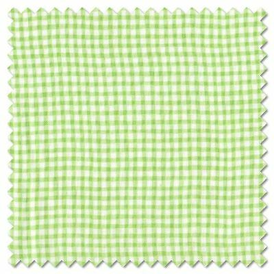 Lime Green  Gingham Fabric by Makower  100% Cotton FQ