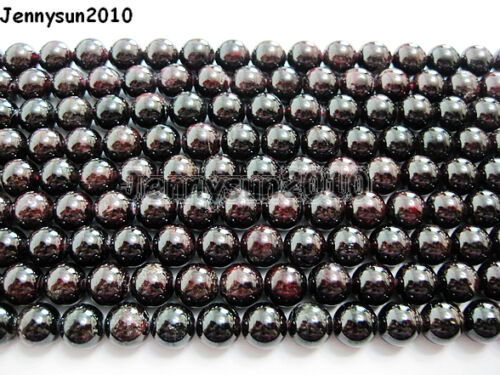 Natural Dark Red Garnet Gemstone Round Beads 15/'/' 2mm 3mm 4mm 6mm 8mm 10mm 12mm