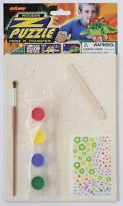 1x-3D-In-legno-Puzzle-Dinosauro-Kit-Artigiano-Costruzione-e-Pittura-21cm