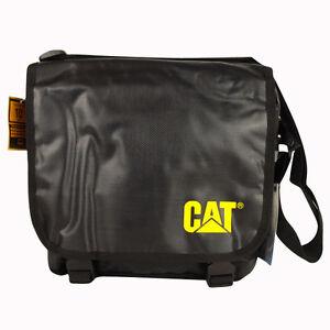 Caterpillar-CAT-10-Laptop-Messenger-Black-Student-CAT-Dispatch-Satchel-Man-Bag
