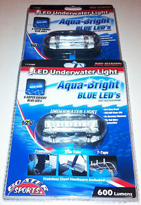BLUE-UNDERWATER-LED-BOAT-LIGHT-2-INCLUDED-3-5-034-X1-5-034-600-LUMENS
