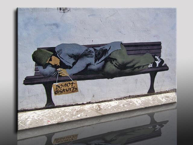 Leinwandbild Banksy Graffiti - Street Art Kunstdrucke Wandbilder Bilder k Poster