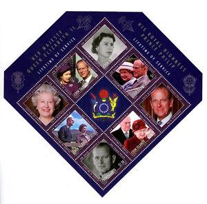 Cook Islands Diamond Jubilee Issue Diamond Souvenir Sheet