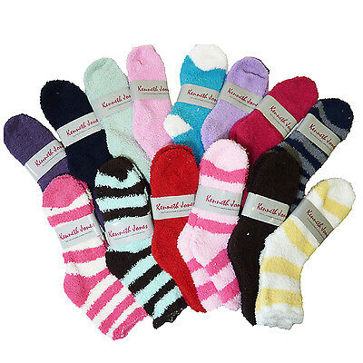 10 Assorted Pairs of Kenneth Jones Soft N Fuzzy Ladies Socks Size 9-11