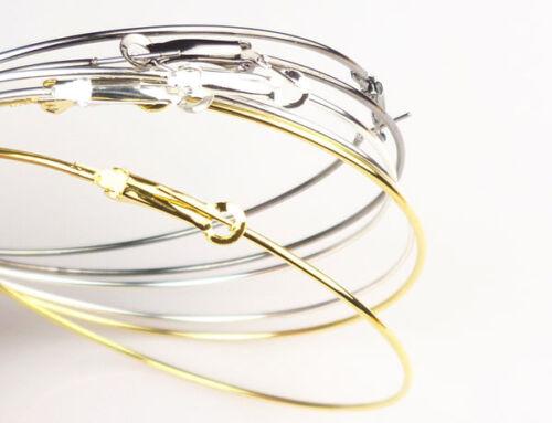 MESH SPACER Earring Rhinestone Basketball Hoop Huggie Crystal Silver Gold Plain