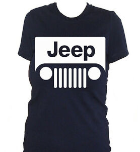 Fm Womens Tshirt JEEP Logo White Car Machine Offroad SPORT EBay - Jeep logo t shirt
