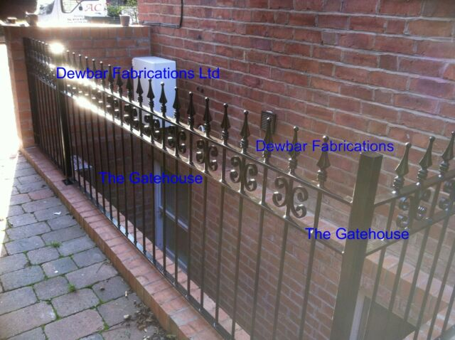 WROUGHT IRON RAILINGS 'AA' - STEEL DECORATIVE  - VARIOUS SIZES - MADE TO ORDER