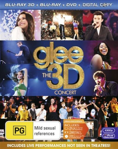 Glee - The 3D Concert (Blu-ray, 2011, 2-Disc Set) p27562-1