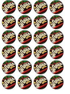 24-X-WILLY-WONKA-CHOCOLATE-BARS-BIRTHDAY-RICE-PAPER-CAKE-TOPPERS