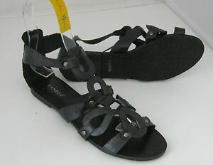 Summer-NEW-black-WOMEN-SHOES-ROMAN-GLADIATOR-FLAT-SANDALS-SIZE-6-5