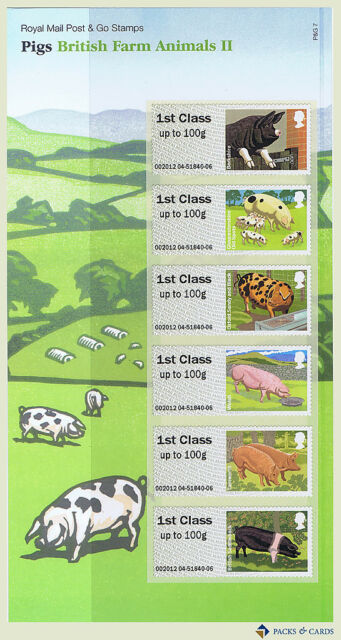 2012 Farm Animals II (2) Pigs Post and Go Stamps in Presentation Pack PPP7