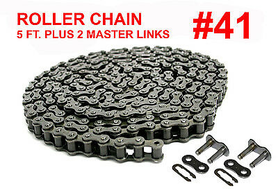 DRIVE CHAIN ASSEMBLY FOR GO KARTS, SCOOTERS, 4x4 & MORE, #41, 5FT, FAST SHIPPING