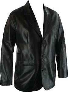 UNICORN-Mens-100-Real-Leather-Classic-Suit-Jacket-All-Sizes-G4