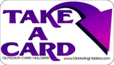 2 Purple Outdoor Stickers for Business Card  Holders