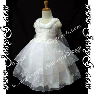 SP01-Flower-Girls-Christening-Communions-Party-Formal-Dress-White-0-24-Months