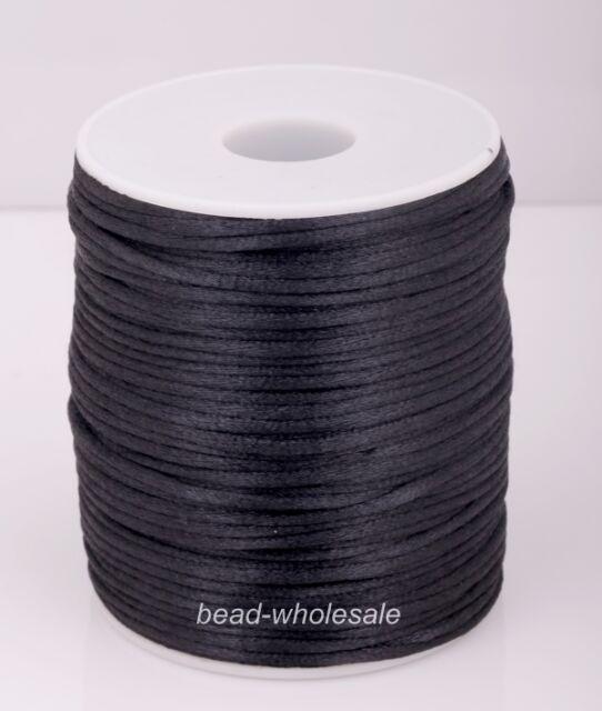 2MM Rattail Satin Cord Shamballa Macrame Beading Nylon kumihimo String DIY