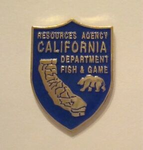 California fish game dept resources agency lapel pin ebay for Department of game and fish