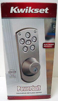 Kwikset Powerbolt Touchpad Keyless/ Electronic Deadbolt Lock