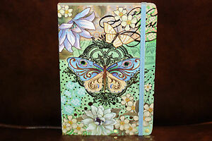 Punch-Studio-Soft-Cover-Bungee-Journal-Blue-Green-Butterfly