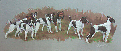 """PARSON JACK RUSSELL TERRIER DOG LIMITED EDITION PRINT - """"The Magnificent Seven"""""""