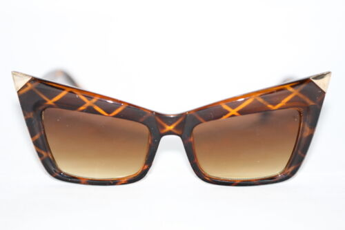 Pop Cat Eye Sonnenbrille schwarz braun rot SELTEN Fashion Retro 738