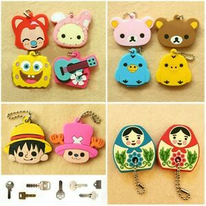 NEW-cute-Key-chains-Key-Protect-Cover-Key-cap-1pc-12-style-free-shipping