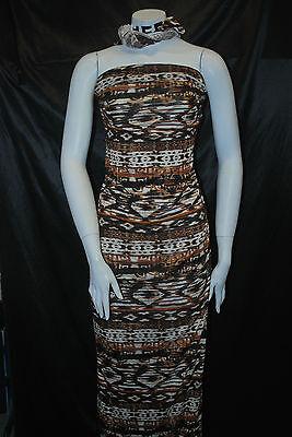 Modal 100% Knit Jersey Fabric Ecofriendly   Multi Color Tribal Print 6 oz