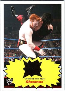 WWE-Sheamus-2012-Topps-Heritage-Authentic-Event-Worn-Shirt-Relic-Card-FD30