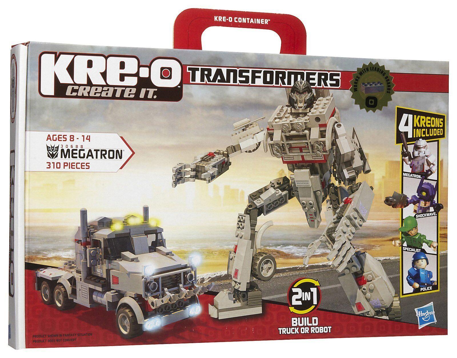 Nueva Hasbro Kre-o Transformers Megatron edificio Set 30688 Con 4 Kreon cifras
