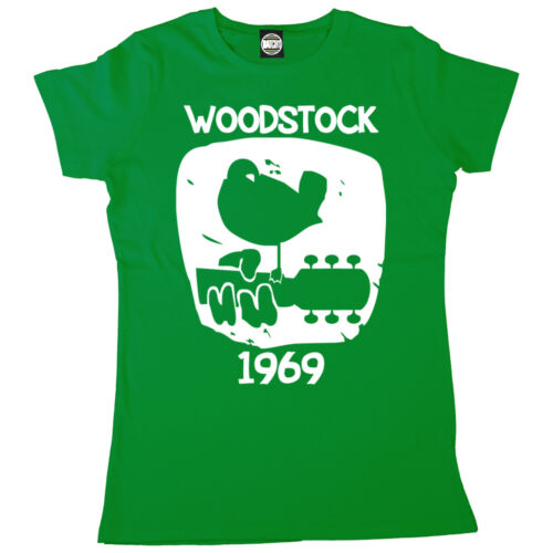 WOODSTOCK 1969 VINTAGE WOMENS PRINTED CLASSIC MUSIC FESTIVAL T-SHIRT