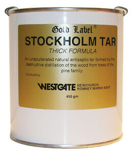 Gold-Label-Equestrian-Stockholm-Tar-Thick-450g-Hoof-Health-Horse-Care-Equine