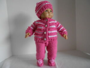 Hand-knit-5-Piece-Outfit-for-Bitty-Baby-or-any-15-doll