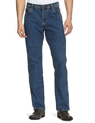 Wrangler Texas Stretch Jeans New Men's Regular Denim Stonewash Blue All Sizes