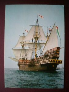 POSTCARD RP MILITARY VESSELS THE GOLDEN HINDE - Tadley, United Kingdom - POSTCARD RP MILITARY VESSELS THE GOLDEN HINDE - Tadley, United Kingdom