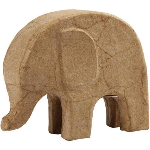 14cm Elephant Animal Shaped Craft Paper Mache Make Your Own Decoration Model Art