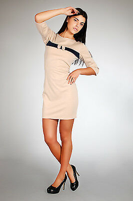 Elegance Women's Cocktail Dress with Bow Tunic Style Bodycon Size 8-14 FA61