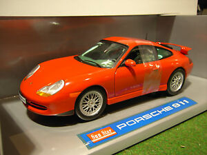PORSCHE-911-type-996-Coupe-rouge-red-1-18-SUNSTAR-1206-voiture-miniature